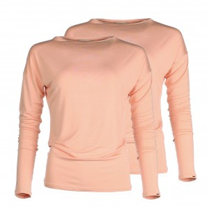 Sustainable bamboo basics - Long sleeve Apricot orange