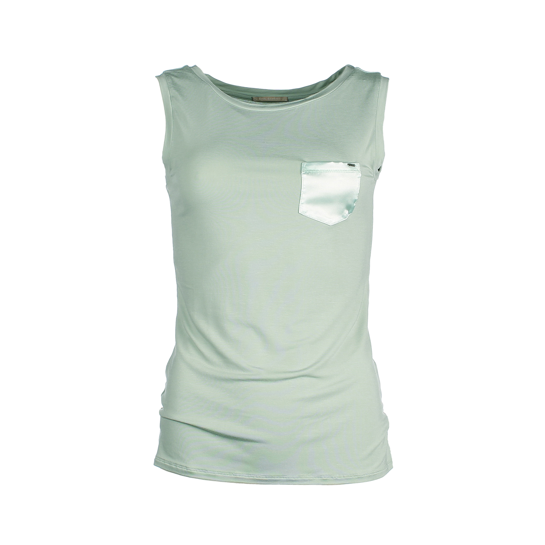 Sleeveless top bamboo - jade green - Mouwloze top - jade groen