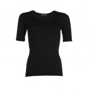 Short Sleeve bamboo shirt - Black - Kote mouwen bamboe t-shirt - Zwart