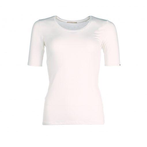 Short Sleeve bamboo shirt - Ivory White - Kote mouwen bamboe t-shirt - Ivoor wit