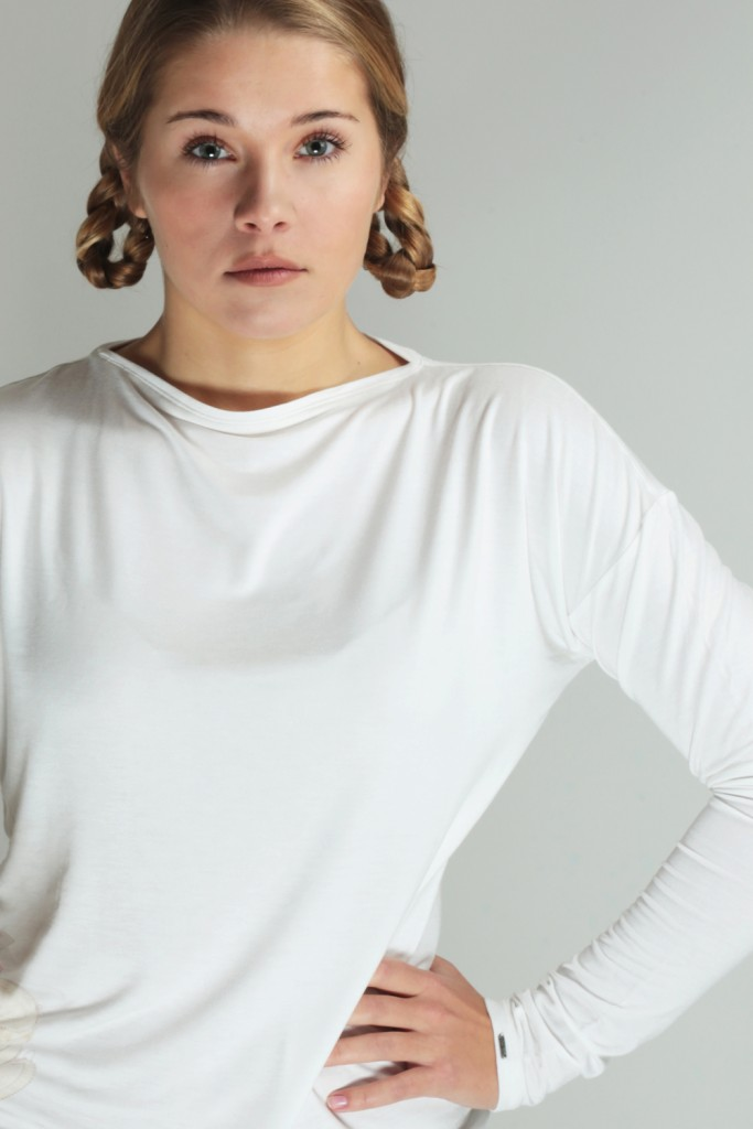 Perfect Ivory white summer top - ROYAL BAMBOO